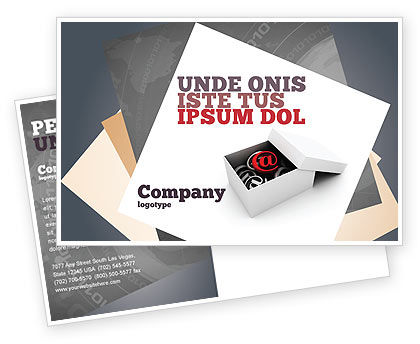 Careers/Industry: Email Shipping Postcard Template #05624