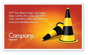 Construction: Traffic Cones Business Card Template #05631