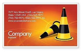 Construction: Verkeerskegels Visitekaartje Template #05631