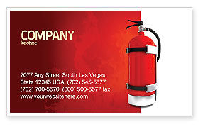 Careers/Industry: Fire Extinguisher Business Card Template #05641
