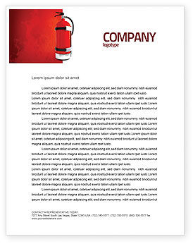 Fire Extinguisher Letterhead Template, 05641, Careers/Industry — PoweredTemplate.com
