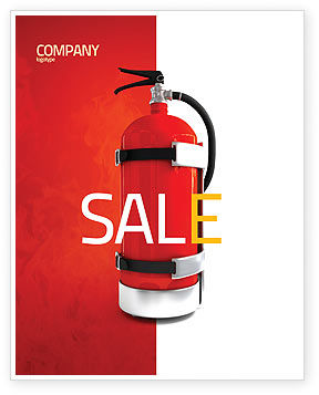 Fire Extinguisher Sale Poster Template, 05641, Careers/Industry — PoweredTemplate.com