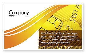 Bank Credit Card Business Card Template