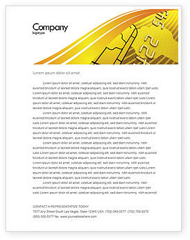 Bank Credit Card Letterhead Template, 05643, Financial/Accounting — PoweredTemplate.com