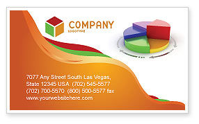 Consulting: 3D Pie Diagram Business Card Template #05649
