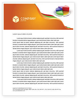 3D Pie Diagram Letterhead Template