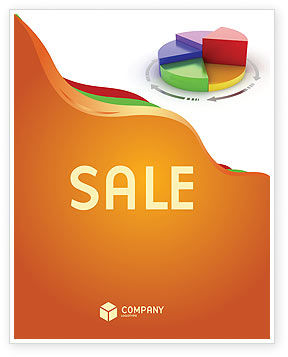 Consulting: 3D Pie Diagram Sale Poster Template #05649