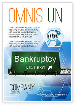 Financial/Accounting: Bankrupt Ad Template #05652