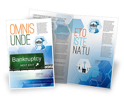 Financial/Accounting: Bankroet Brochure Template #05652