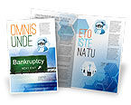 Financial/Accounting: Templat Brosur Bangkrut #05652