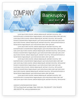 Bankrupt Letterhead Template, 05652, Financial/Accounting — PoweredTemplate.com