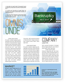 Bankrupt Newsletter Template, 05652, Financial/Accounting — PoweredTemplate.com