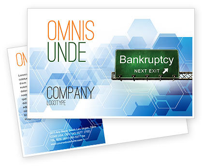 Bankrupt Postcard Template