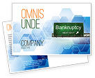 Financial/Accounting: Bankrupt Postcard Template #05652