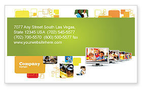 Kids Computer Business Card Template, 05659, Education & Training — PoweredTemplate.com