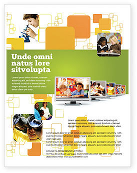 Education & Training: Plantilla de volante - computadora de los niños #05659