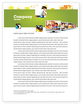 Education & Training: Kids Computer Letterhead Template #05659