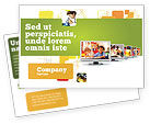 Education & Training: Kids Computer Postcard Template #05659