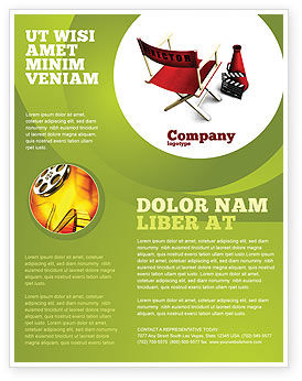 Film Director Chair Flyer Template, 05664, Careers/Industry — PoweredTemplate.com
