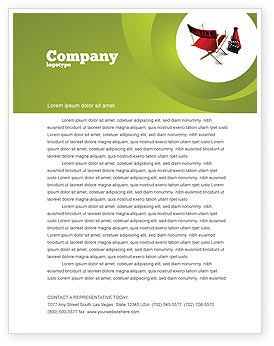 Careers/Industry: Film Director Chair Letterhead Template #05664