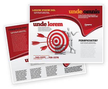 Reach Target Brochure Template, 05667, Consulting — PoweredTemplate.com