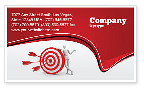 Consulting: Reach Target Business Card Template #05667