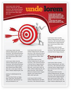 Reach Target Flyer Template, 05667, Consulting — PoweredTemplate.com