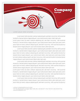 Reach Target Letterhead Template, 05667, Consulting — PoweredTemplate.com