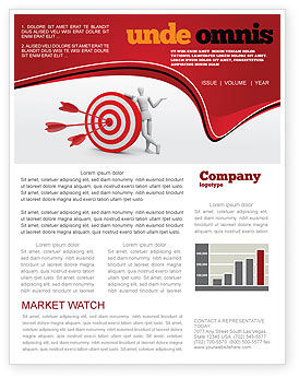 Reach Target Newsletter Template, 05667, Consulting — PoweredTemplate.com