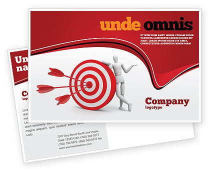 Reach Target Postcard Template, 05667, Consulting — PoweredTemplate.com
