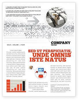 Business Concepts: Escape From Reality Newsletter Template #05668
