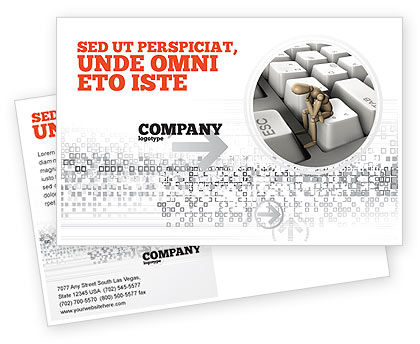 Business Concepts: Escape From Reality Postcard Template #05668