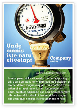 Water Meter Ad Template, 05692, Utilities/Industrial — PoweredTemplate.com