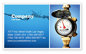 Water Meter Business Card Template