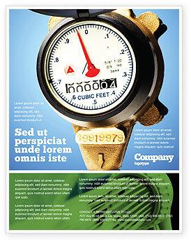 Utilities/Industrial: Templat Flyer Meteran Air #05692