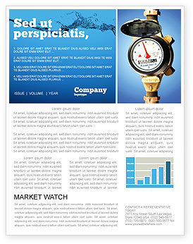 Utilities/Industrial: Water Meter Newsletter Template #05692