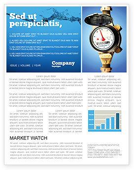 Utilities/Industrial: Modelo de Newsletter - medidor de água #05692