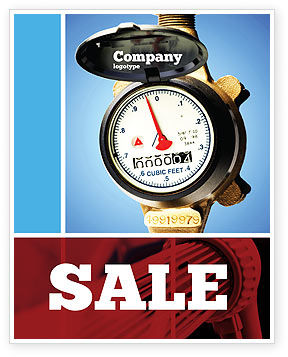 Water Meter Sale Poster Template, 05692, Utilities/Industrial — PoweredTemplate.com