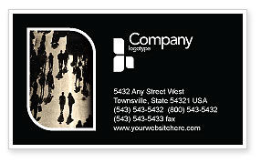 People: Crowd Business Card Template #05693