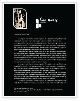 Crowd Letterhead Template, 05693, People — PoweredTemplate.com