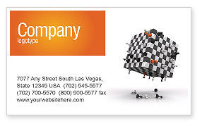 Business Concepts: Game of Chess Business Card Template #05694
