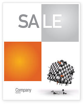 Game of Chess Sale Poster Template, 05694, Business Concepts — PoweredTemplate.com