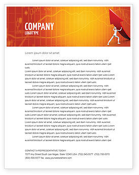 Financial/Accounting: Forcing Improving Growth Letterhead Template #05700