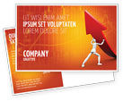 Financial/Accounting: Forcing Improving Growth Postcard Template #05700