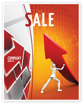 Forcing Improving Growth Sale Poster Template, 05700, Financial/Accounting — PoweredTemplate.com