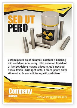 Military: Nucleaire Brandstof Advertentie Template #05708