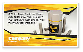 Military: Nuclear Fuel Business Card Template #05708