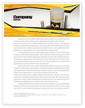 Nuclear Fuel Letterhead Template, 05708, Military — PoweredTemplate.com
