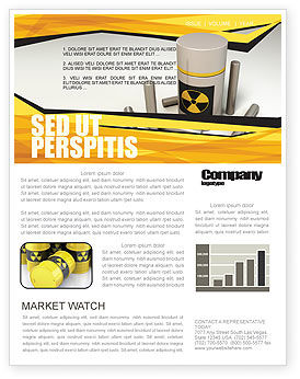 Nuclear Fuel Newsletter Template, 05708, Military — PoweredTemplate.com