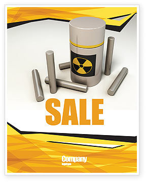 Military: Nuclear Fuel Sale Poster Template #05708